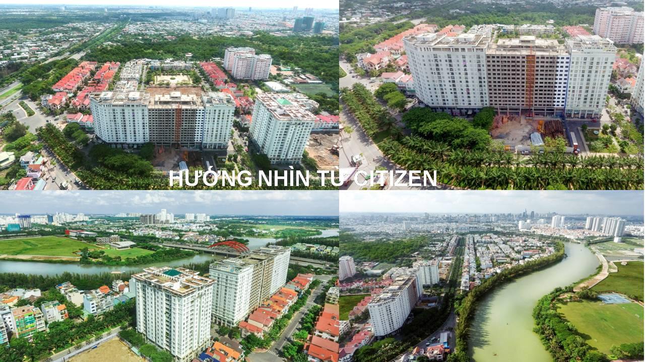 View nhìn từ căn hộ Citizents trung sơn