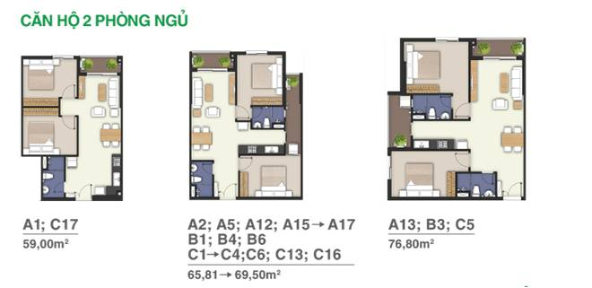 thiết kế 2 căn hộ Moonlight Boulevard bình tân