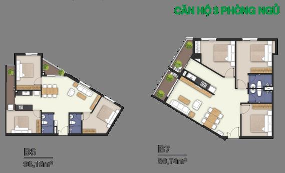 thiết kế căn hộ Moonlight Boulevard bình tân