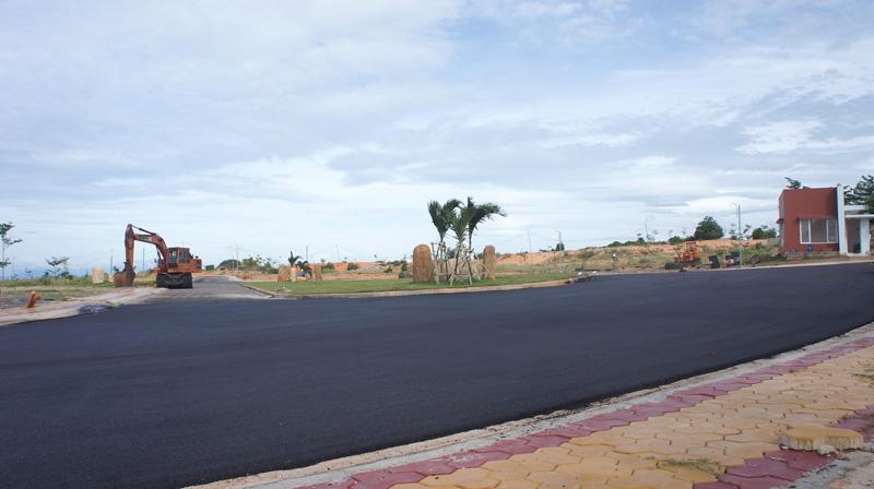 Hạ tầng hoàn thiện tại dự án biệt thự biển Sentosa Villas