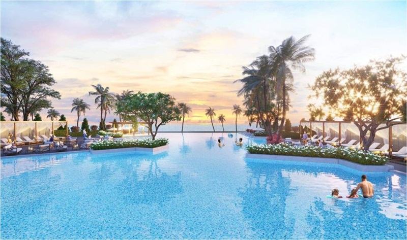 Hồ bợi nước mặn tại Cam Ranh Mystery Villas