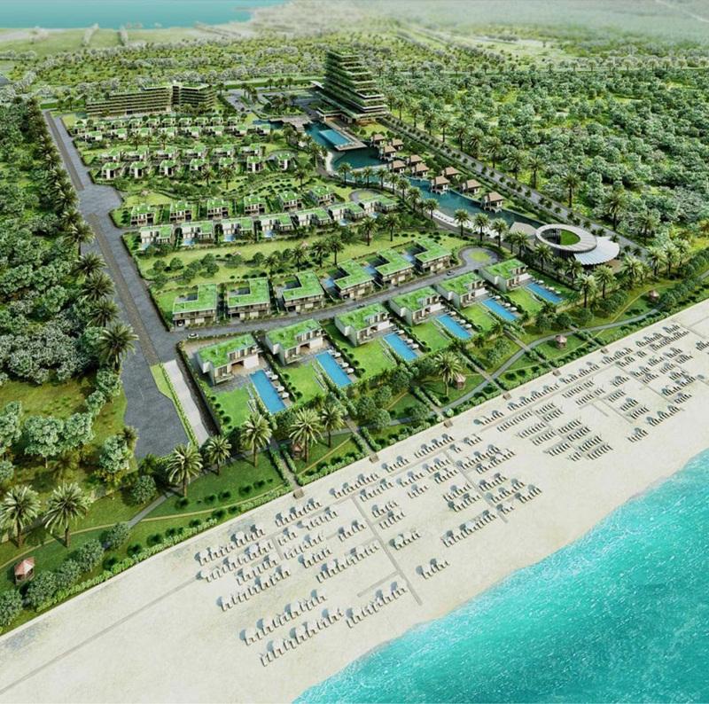 Hệ thống Rseort đã đi vào hoạt động _ dự án Goldenbay Bãi Dài Cam Ranh