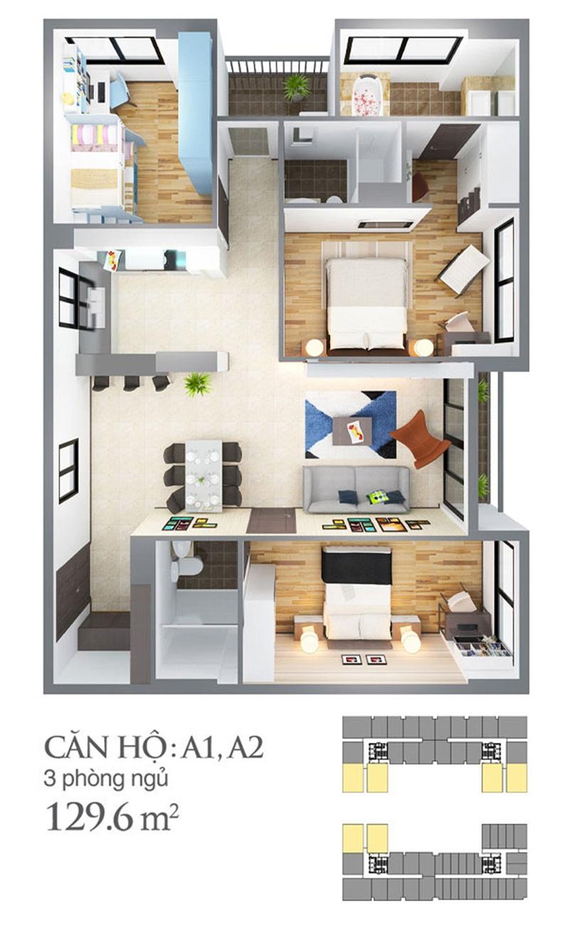 Thiết kế căn hộ skycenter