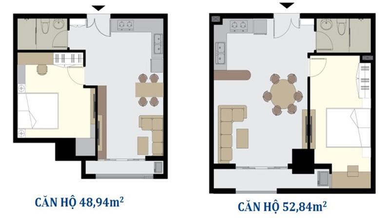 Thiết kế mẫu căn hộ Vũng Tàu Melody