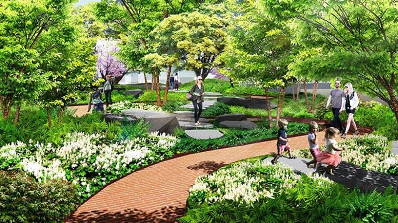 Công viên cây xanh tại Moonlight Boulevard