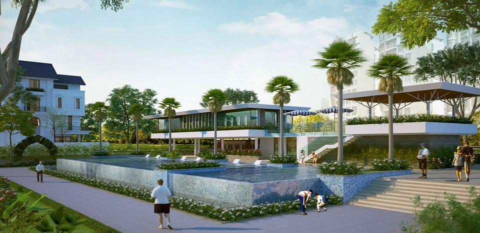 Công viên hồ bơi tại Saigonmystery villas