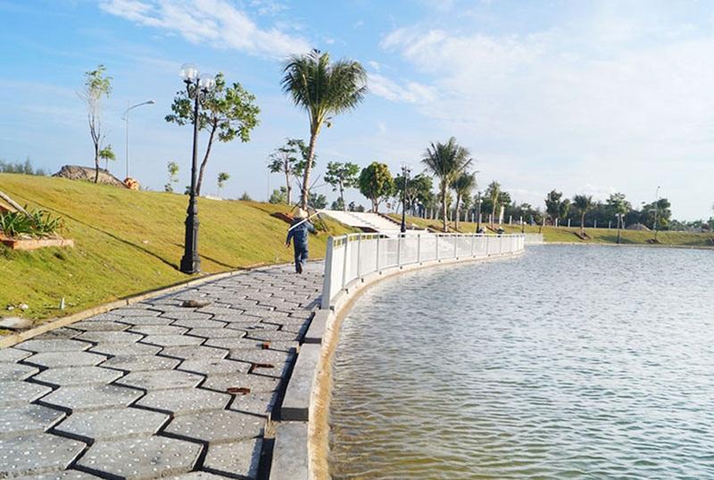 Hồ Danh Vọng dự án Goldenbay Bãi Dài Cam Ranh- Khu D17 đã hoàn thành