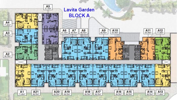 Mặt bằng Block A căn hộ laviat garden