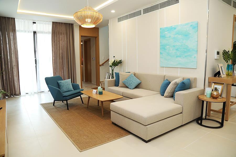 Không gian phòng khách biệt thự Cam Ranh Mystery Villas