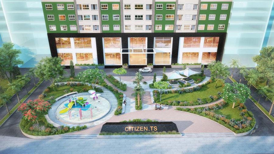 Mặt trước dự án căn hộ Citizents trung sơn