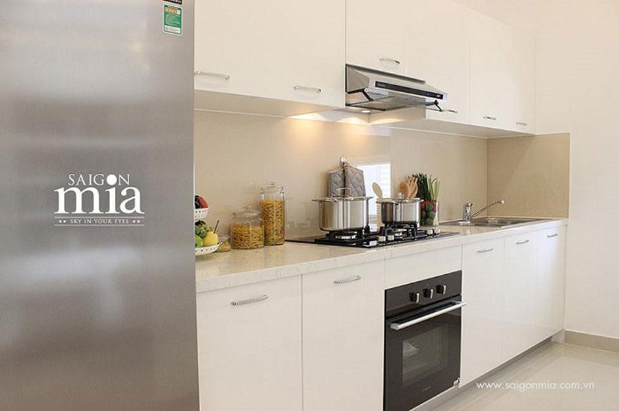 Căn hộ Saigonmia không gian phòng bếp
