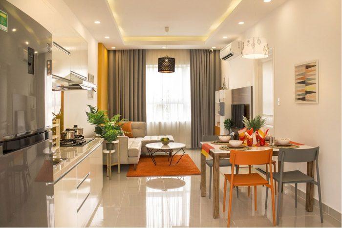 Phòng khách căn hộ 9 view quận 9