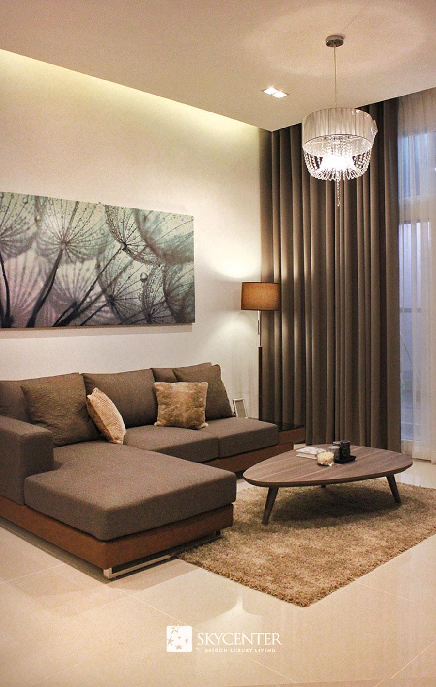 Phòng khách căn hộ Skycenter Tân Bình