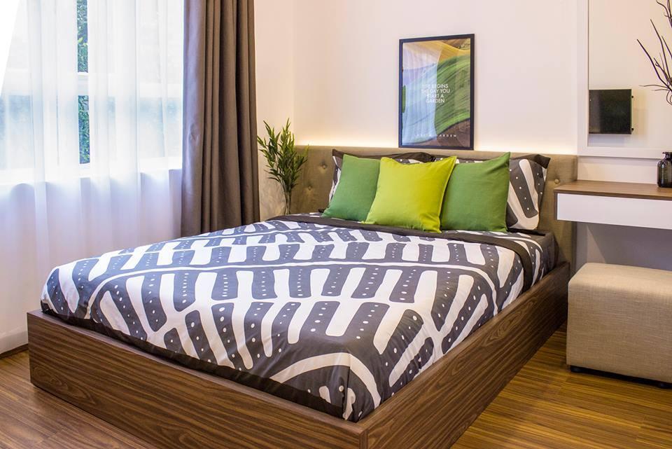 phòng ngủ căn hộ lavita garden lót ván sàn