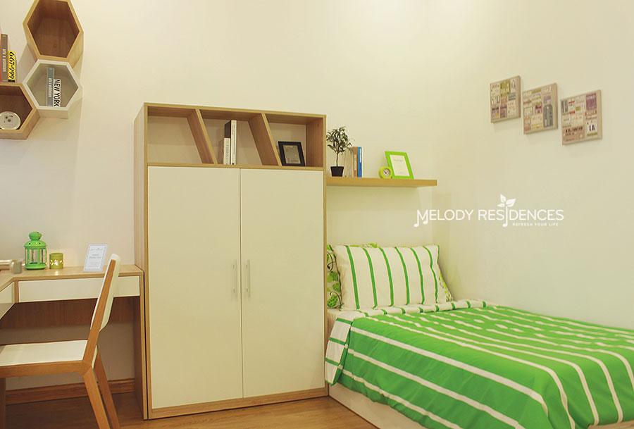Không gian phòng ngủ căn hộ Melody Residences