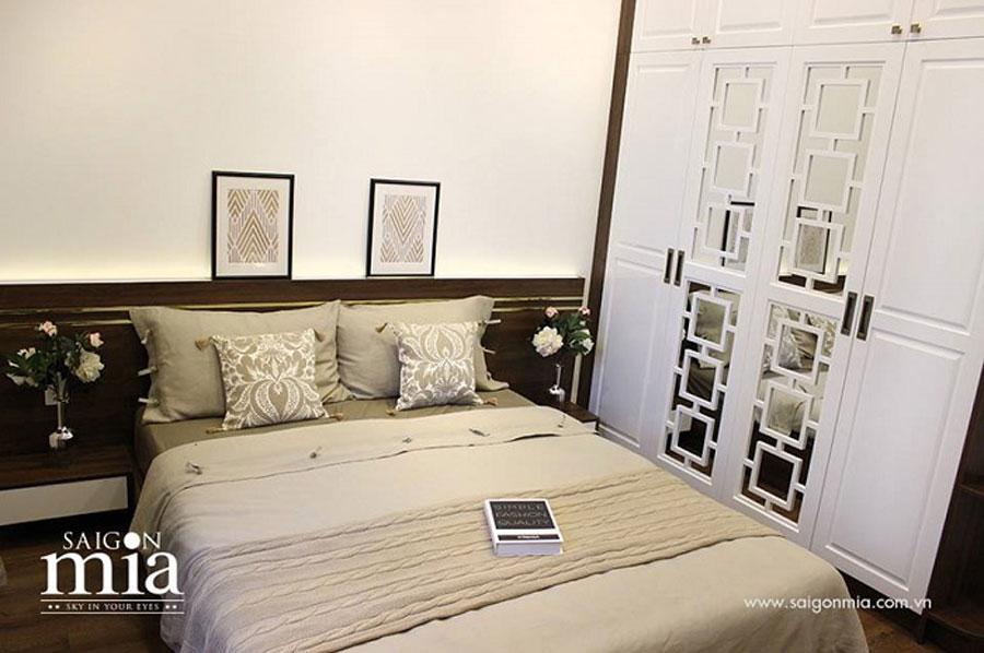 Căn hộ Saigonmia không gian phòng ngủ