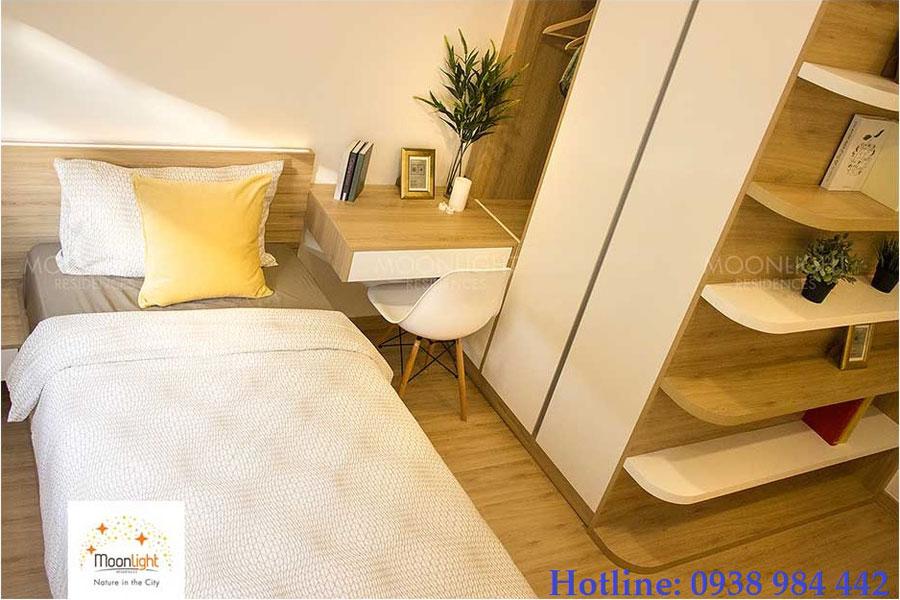 Phòng ngủ căn hộ moonlight garden thủ đức