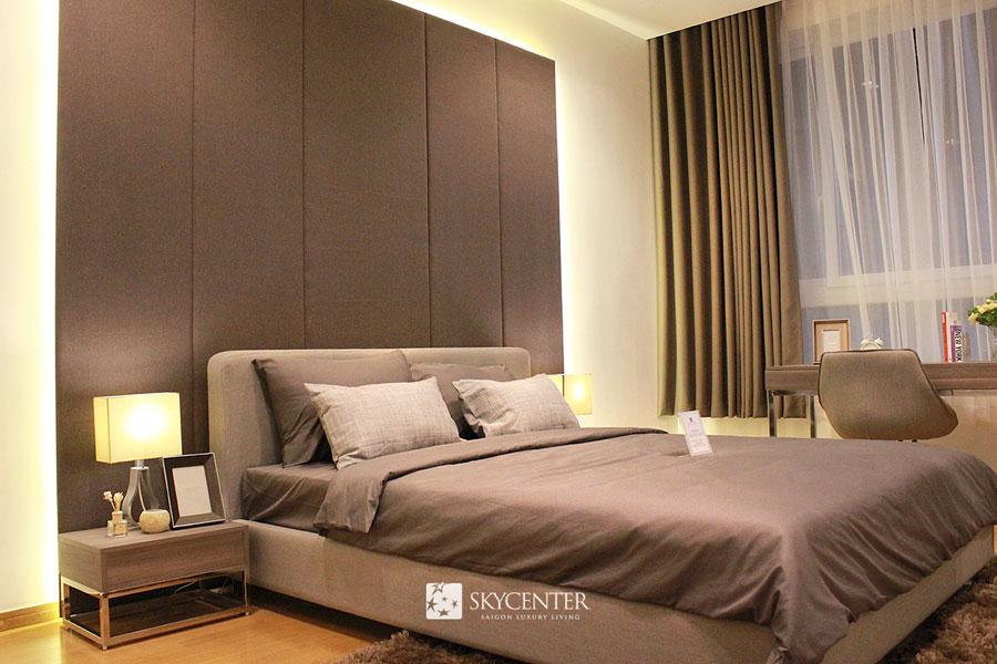 Phòng ngủ căn hộ Skycenter Tân Bình
