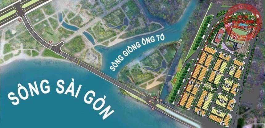 Cầu bắc ngang dự án Saigon mystery villas quan 2