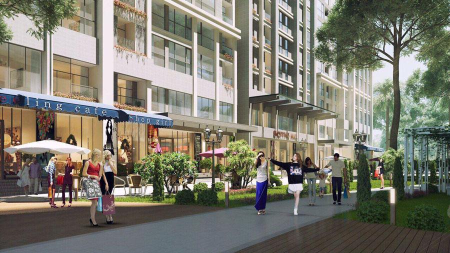 Trung tâm thương mại tại dự án căn hộ Moonlight residences