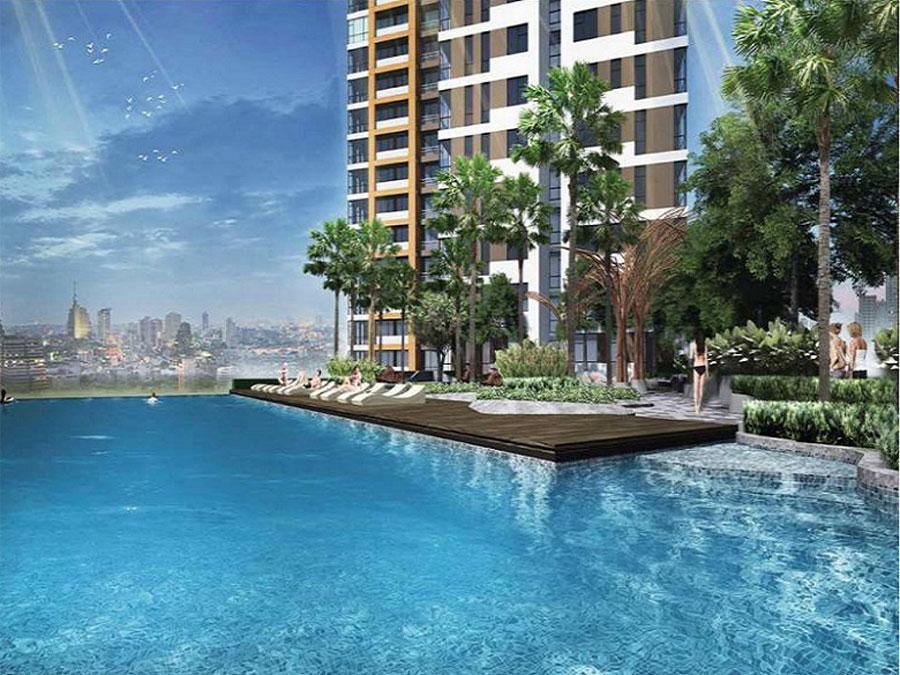Hồ bơi Skyview căn hộ Moonlight Boulevard