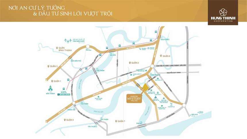 Vị trí đắc đại dự án Saigon Mystery villas quận 2