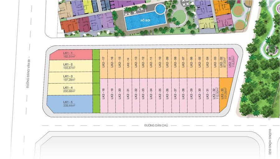 Vị trí mã nền đất căn hộ dự án Moonlight Residences