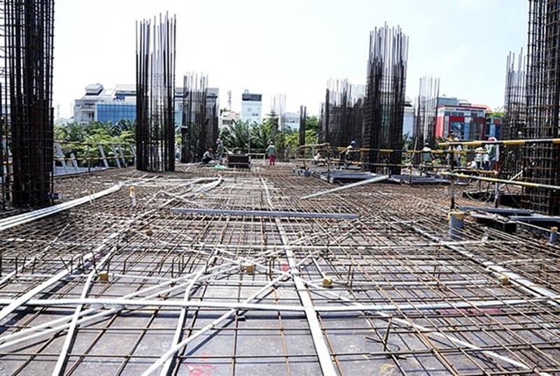 Saigonmia Thi công cốt thép sàn tầng 2 - block Northern