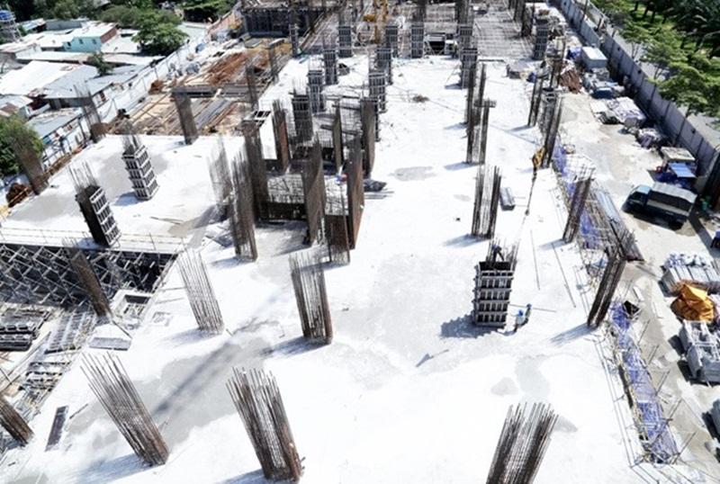 SaigonmiaThi công cột sàn tầng 3 - block Central