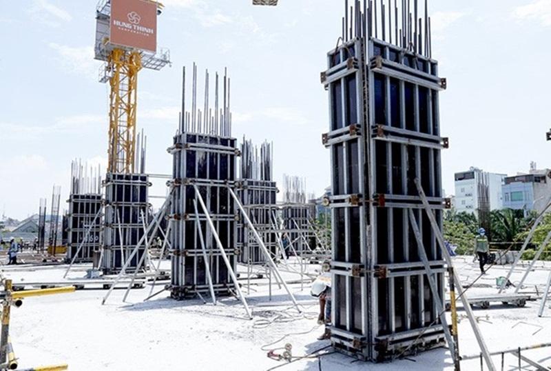 Saigonmia Thi công cột sàn tầng 3 - block Central