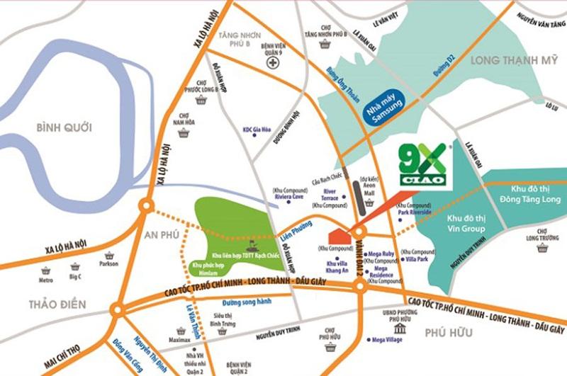 Vị trí căn hộ 9X Ciao quận 9