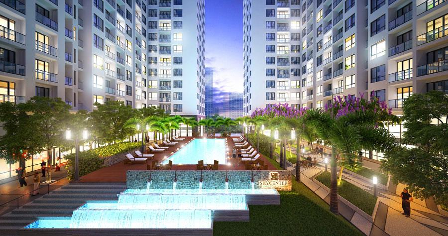 Hồ bơi căn hộ Skycenter Tân Bình