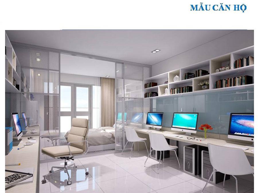 Cho thuê căn hộ officetel skycenter