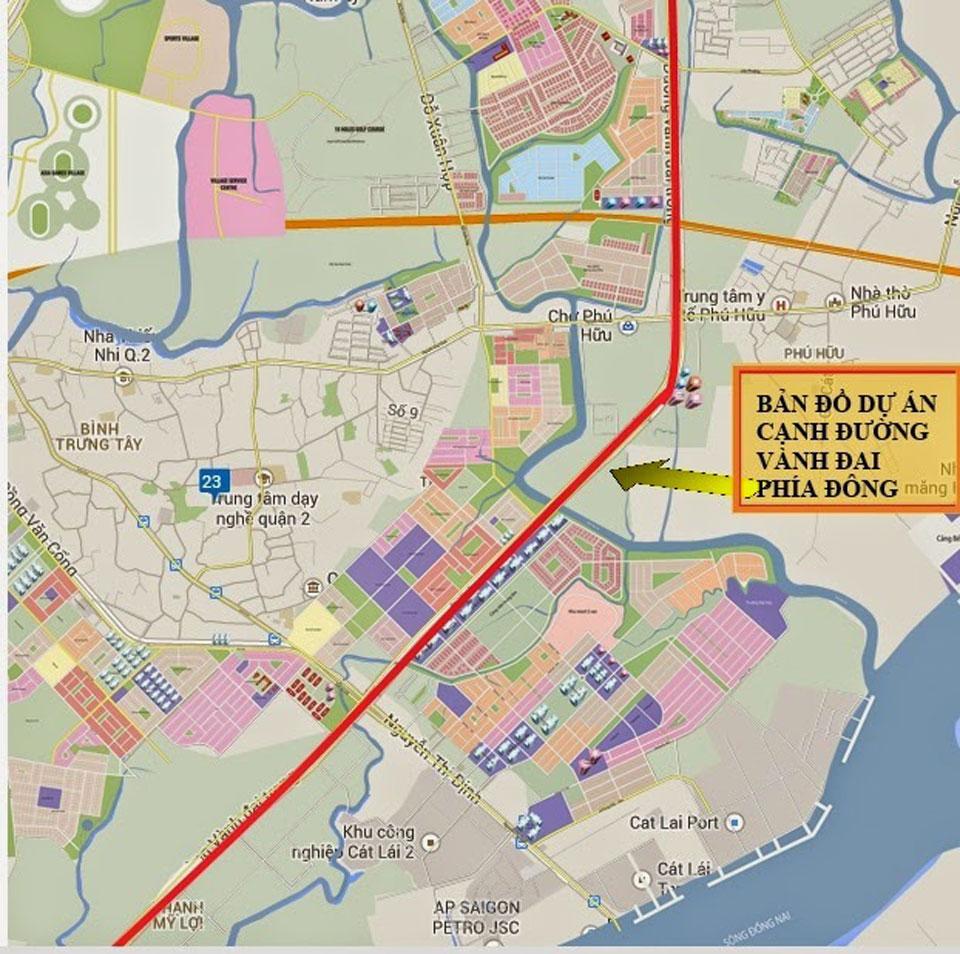 dự án xây dựng đường xuyên tâm nối đường Đồng Văn Cống với đường Vành đai 2