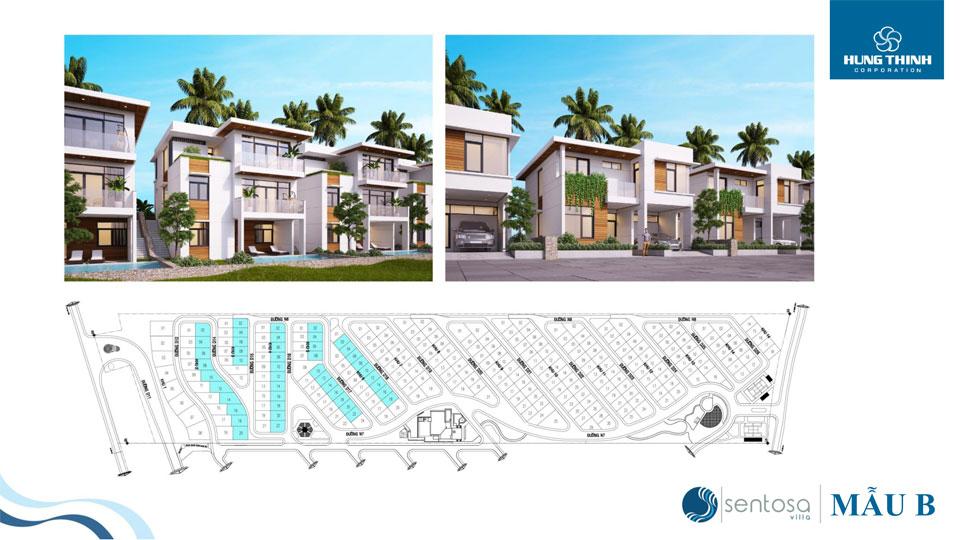 Mặt bằng dự án Sentosa Villas