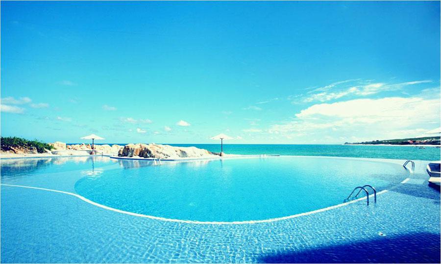 Hồ bơi dự án đất nền Sentosa villas mũi né