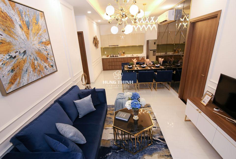 Phòng khách căn hộ Q7 saigon riverside