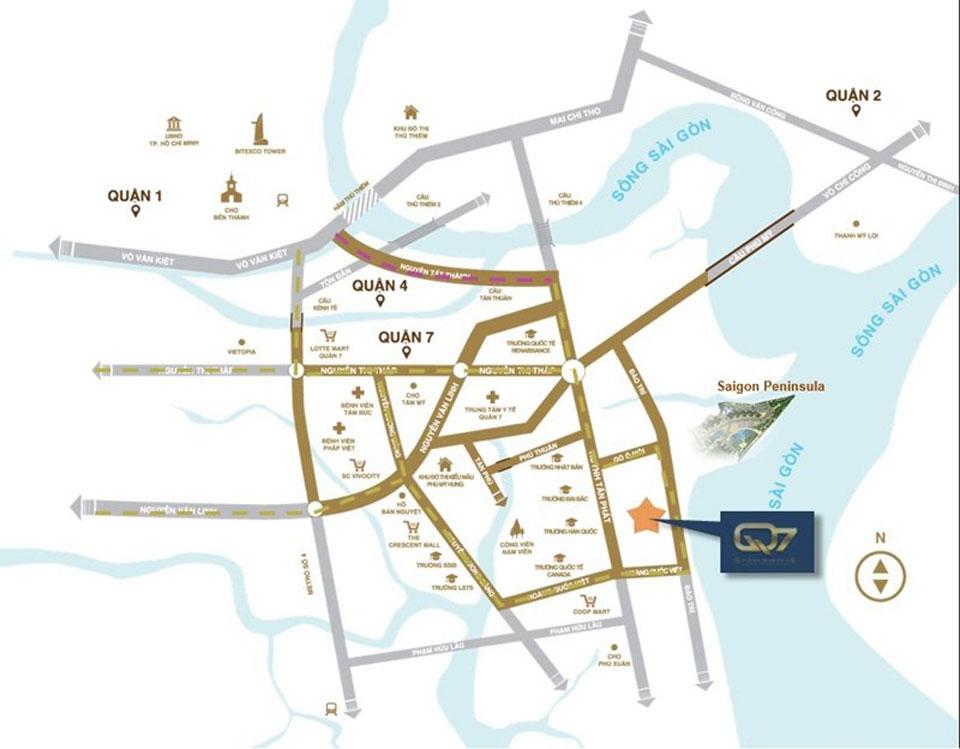 Vị trí căn hộ Q7 Saigon Riverside