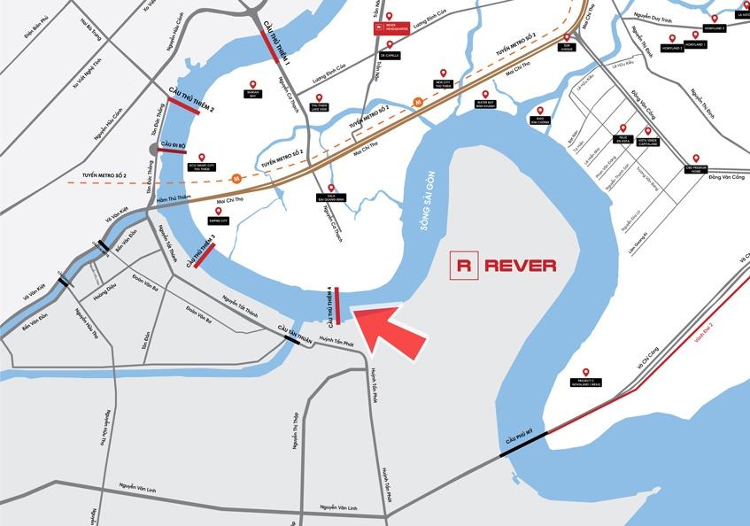 Quy hoạch Cầu Thủ Thiêm 4 kết nối Khu Đô Thị Thủ Thiêm