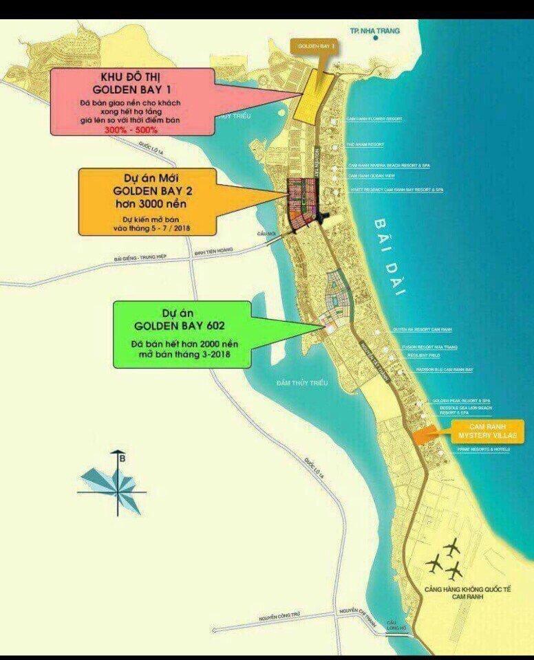 Vị trí dự án mới Goldenbay 2 Cam Ranh