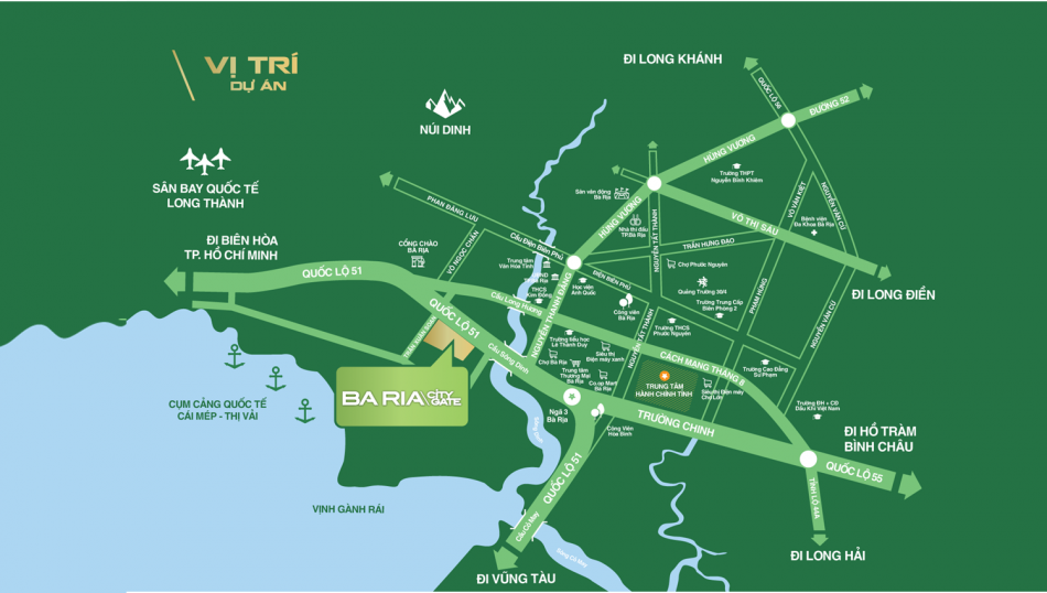 Vị tri Bà Ria City gate
