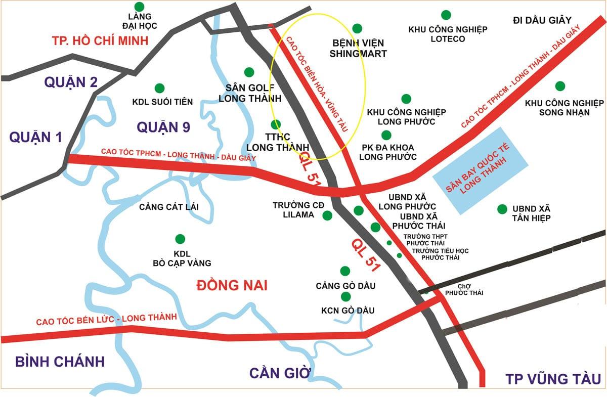Bất động sản hồ tràm hạ tầng giao thông