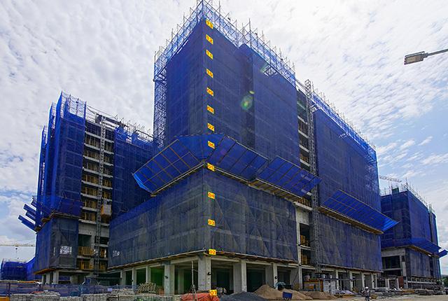 tiến độ thi công dự án  q7 saigon riverside Block Mecury
