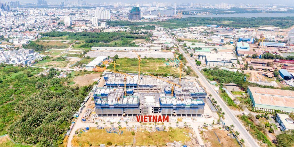 Tiến Độ thi công Q7 Saigon riverside tháng 3.2020